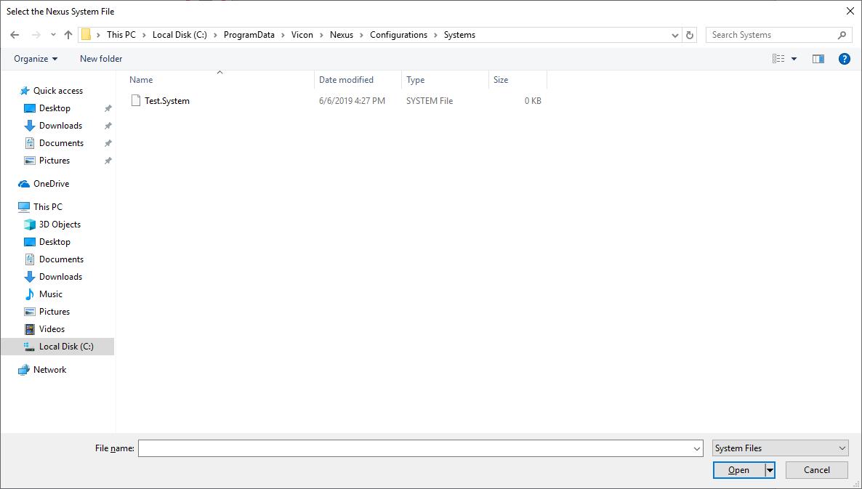 Vicon Nexus Streaming - Visual3D Wiki Documentation