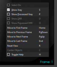 Context menu for 2D view