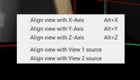 Context menu for 3D view